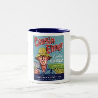 Cousin Elmer Vegetables Coffee Mugs