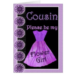 COUSIN Flower Girl Invitation PURPLE Dress