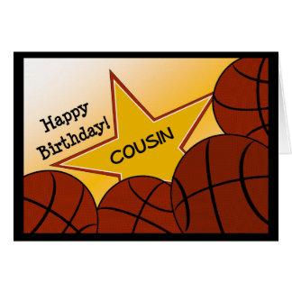 Cousin - Happy Birthday Basketball Loving Cousin Card