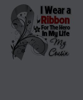 Cousin Hero in My Life Brain Cancer Shirt