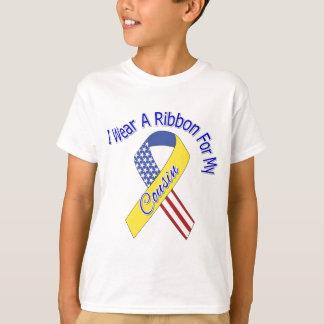 Cousin - I Wear A Ribbon Military Patriotic T-Shirt