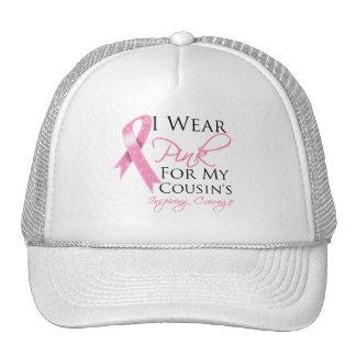 Cousin Inspiring Courage Breast Cancer Trucker Hats