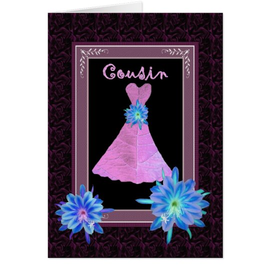 COUSIN Junior Bridesmaid - Purple Gown and Flowers