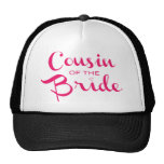 Cousin of Bride Pink White Cap