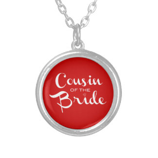 Cousin of Bride White on Red Pendants