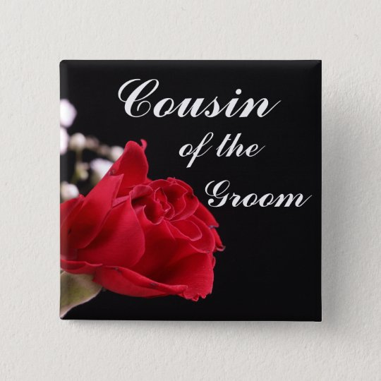 Cousin Of The Groom 15 Cm Square Badge