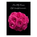 Cousin Pink Roses Bridesmaid Card