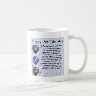 Cousin Poem 18th Birthday Coffee Mug