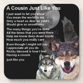 Cousin Poem - Wolf Design Coaster