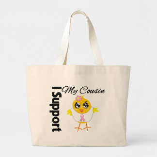 Cousin Support Breast Cancer Canvas Bags