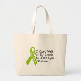 COUSIN to Beat Lyme Disease! Jumbo Tote Bag