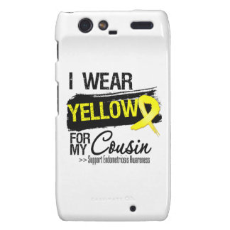 Cousin Yellow Ribbon Endometriosis Motorola Droid RAZR Covers