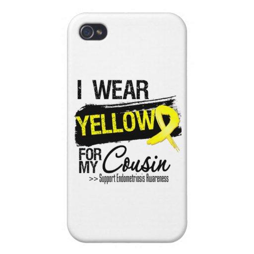 Cousin Yellow Ribbon Endometriosis iPhone 4/4S Cases