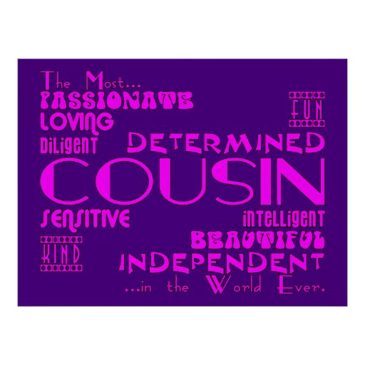 Cousins Birthday Parties & Christmas : Qualities Posters
