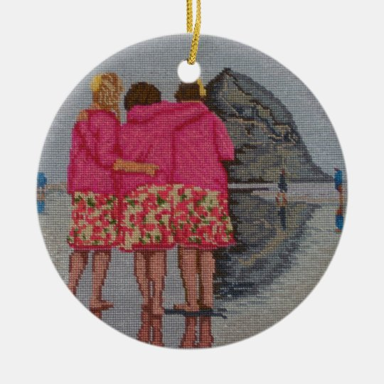 Cousins Needlepoint Christmas Ornament