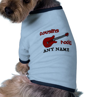 Cousins Rock! with Red Guitar Ringer Dog Shirt