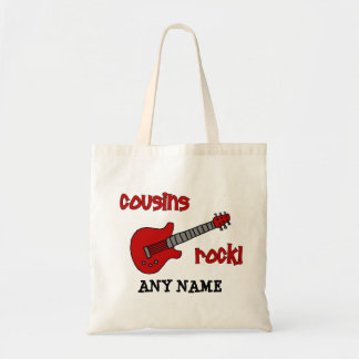 Cousins Rock! with Red Guitar Tote Bag