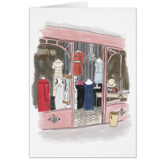 Couture at the Paris Flea Market - Notecard Note Card
