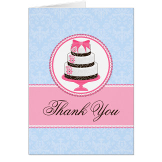 Couture Cake Thank You Cards