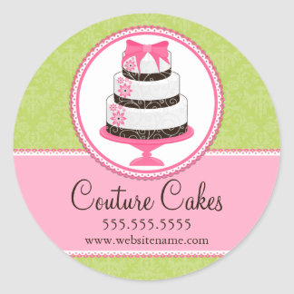 Couture Cakes Bakery Box Seals Round Sticker