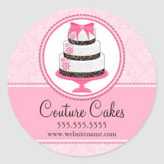 Couture Cakes Bakery Box Seals Stickers