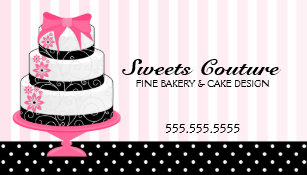 Bakeshop gifts gift ideas zazzle uk couture cakes bakery custom business card reheart Gallery