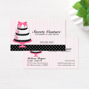 Cake decorating business cards business card printing zazzle uk couture cakes bakery custom business card colourmoves