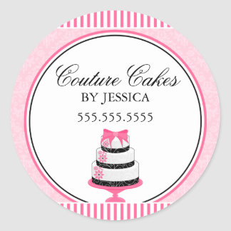 Couture Cakes Pink Bakery Stickers