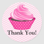 Couture Cupcake Bakery Thank You Round Stickers