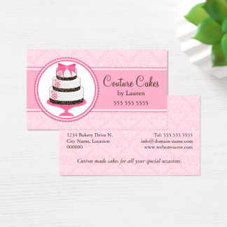 Couture Custom Cake Bakery Business Card