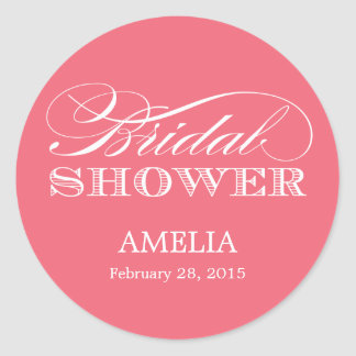 Couture Elegance Bridal Shower Sticker