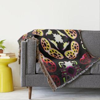 Couverture Jimette Design has fringes of orange Throw Blanket