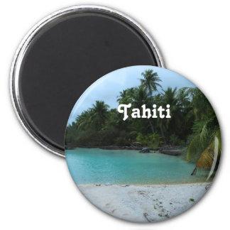 Cove in Tahiti 6 Cm Round Magnet