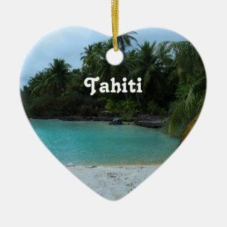 Cove in Tahiti Christmas Ornament