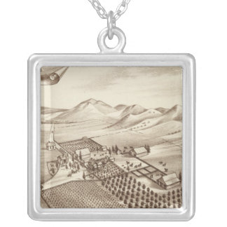 Cove Ranch, Tulare Co, Cal Silver Plated Necklace