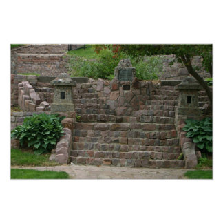 Covell Lake Stone Steps Sioux Falls SD gifts Poster