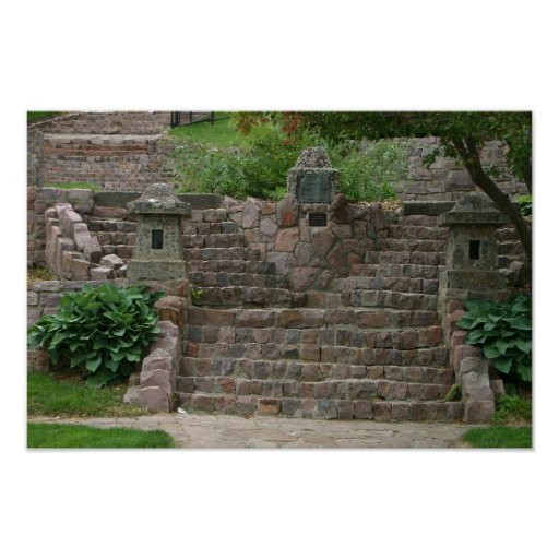 Covell Lake Stone Steps Sioux Falls SD gifts Print