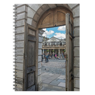 Covent Garden door notebook