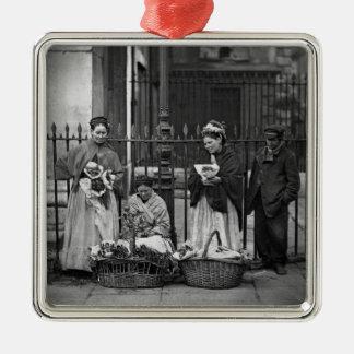 Covent Garden Flower Women, from 'Street Life in L Christmas Ornament