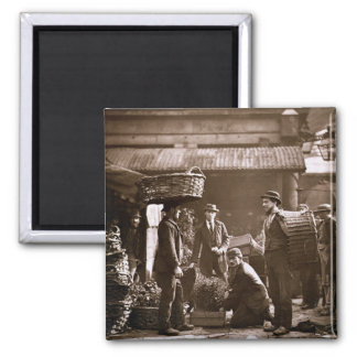 Covent Garden Labourers (woodburytype) Square Magnet