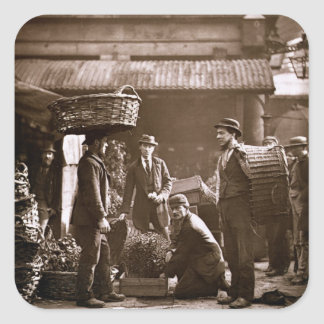 Covent Garden Labourers (woodburytype) Square Stickers