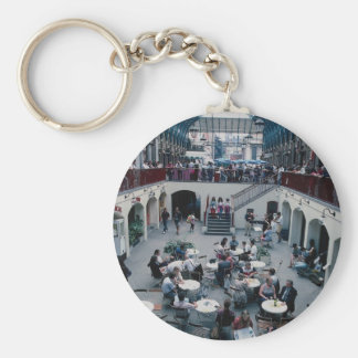Covent Garden, London, England Basic Round Button Key Ring