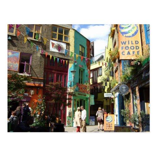 Covent Garden Rainbow Houses Postcard
