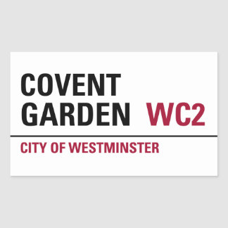 Covent Garden Sign (pack of 4) Rectangular Sticker
