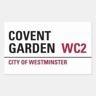 Covent Garden Sign (pack of 4) Rectangular Sticker