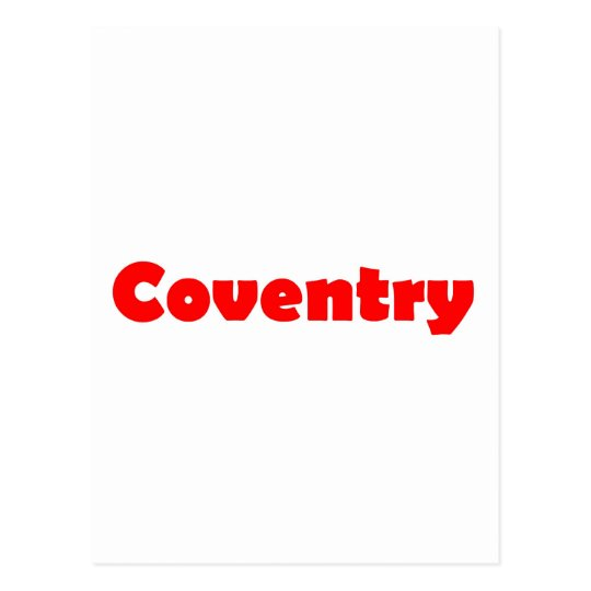 Coventry city of england postcard