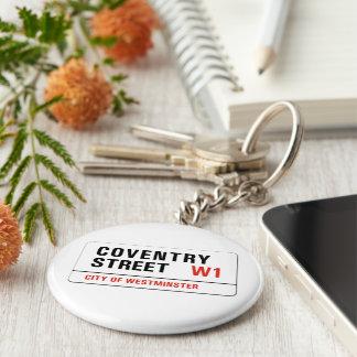 Coventry Street London Street Sign Key Chain