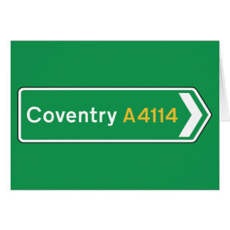 Coventry, UK Road Sign Card