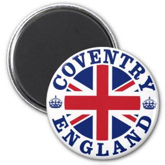 Coventry Vintage UK Design 6 Cm Round Magnet