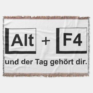 "Cover alto+F4 Design ""black "" Throw Blanket"
